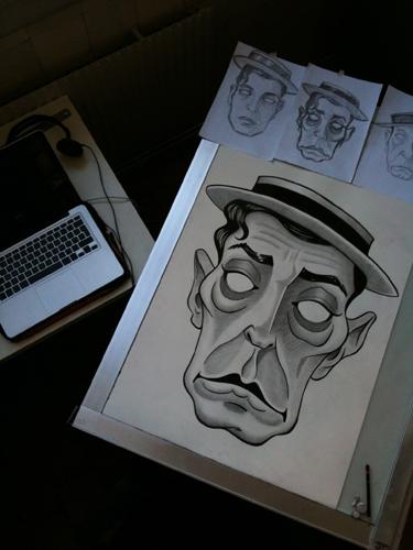 färdig mask på ritbord blog