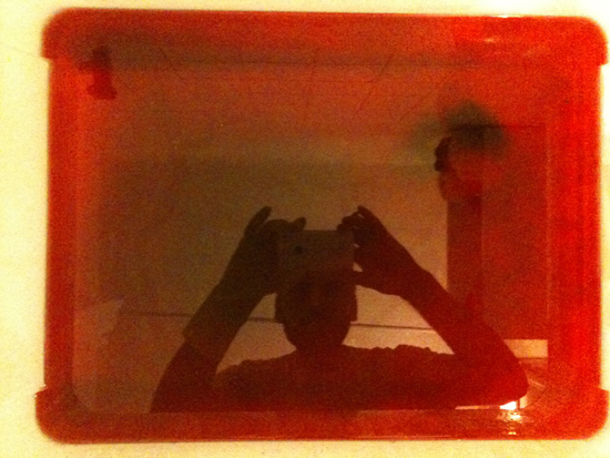 red dye bath